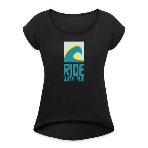 rwf - Frauen T-Shirt mit gerollten Ärmeln