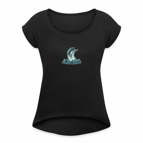 ag logo - Frauen T-Shirt mit gerollten Ärmeln