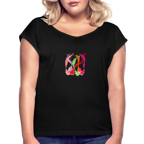 clothes feminine a little of everything - Camiseta con manga enrollada mujer