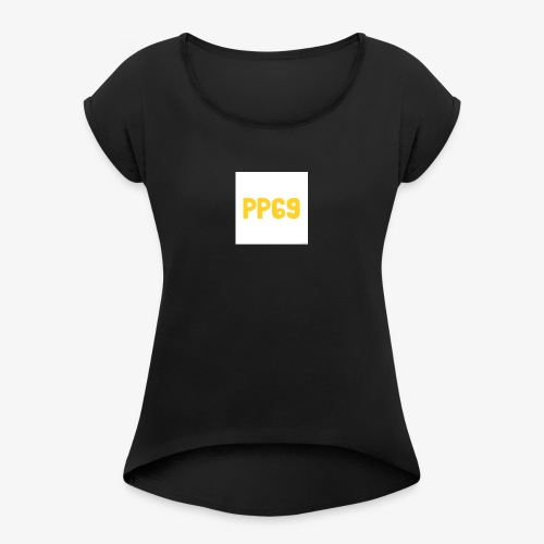 Pugs Plays69 Logo - Women's T-Shirt with rolled up sleeves