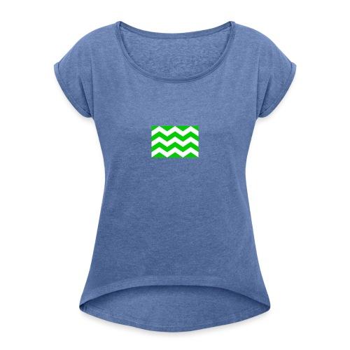 Vlag westland kassen - Vrouwen T-shirt met opgerolde mouwen