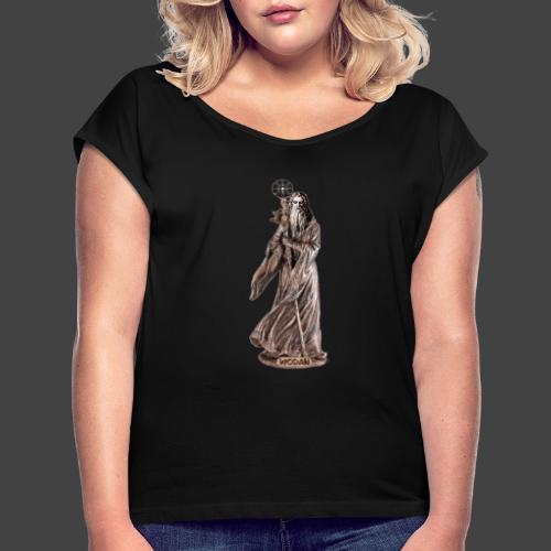 WODAN DER MÄCHTIGE, braun - Frauen T-Shirt mit gerollten Ärmeln