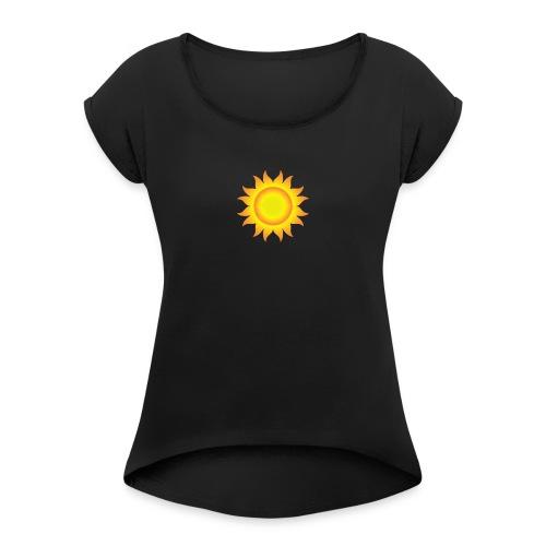 sol T-shirt - Dame T-shirt med rulleærmer