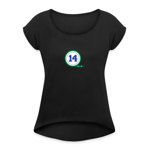 D14 Alt Logo - Women's T-Shirt with rolled up sleeves