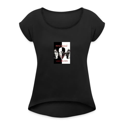 Enox - T-shirt à manches retroussées Femme