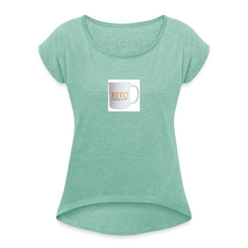 Rito Mug - Dame T-shirt med rulleærmer