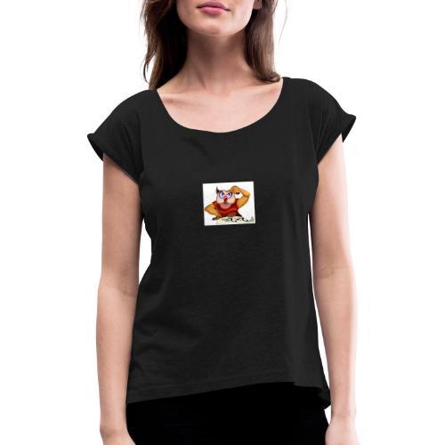 tafeluil - Vrouwen T-shirt met opgerolde mouwen