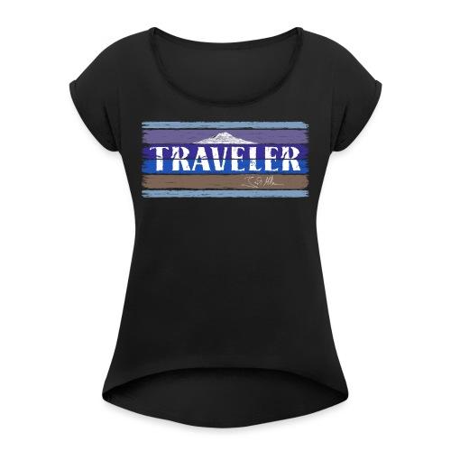 Jack McBannon - Traveler II - Frauen T-Shirt mit gerollten Ärmeln