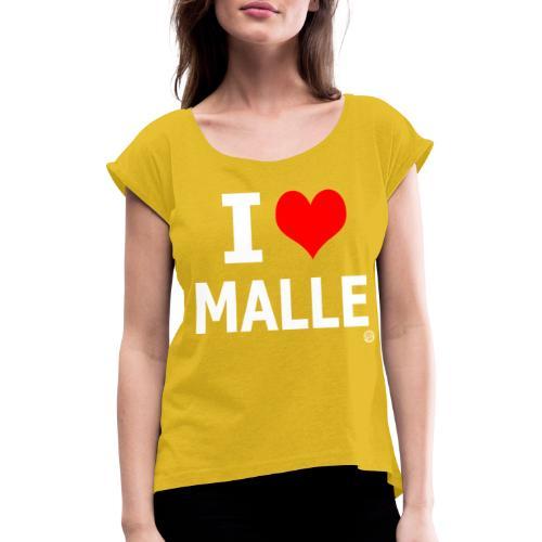 IK HOU VAN MALLE SHIRT Vrouwen Mannen Mannen - Vrouwen T-shirt met opgerolde mouwen