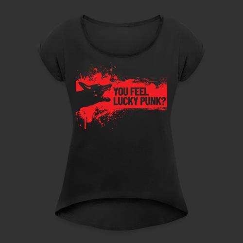 K9 Punk - Naisten T-paita, jossa rullatut hihat