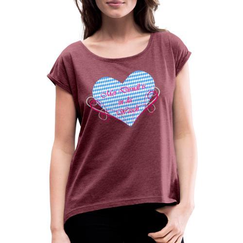 Oktoberfest - Frauen T-Shirt mit gerollten Ärmeln