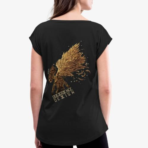 cyberpunk Angel - T-shirt à manches retroussées Femme