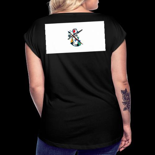 Noll tre tre Logo Big - T-shirt med upprullade ärmar dam