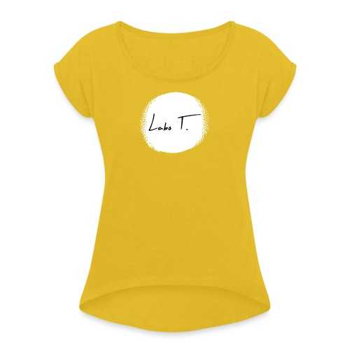 Labo T. - white - T-shirt à manches retroussées Femme