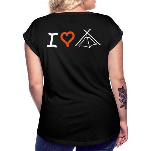 I love Kothe - Frauen T-Shirt mit gerollten Ärmeln