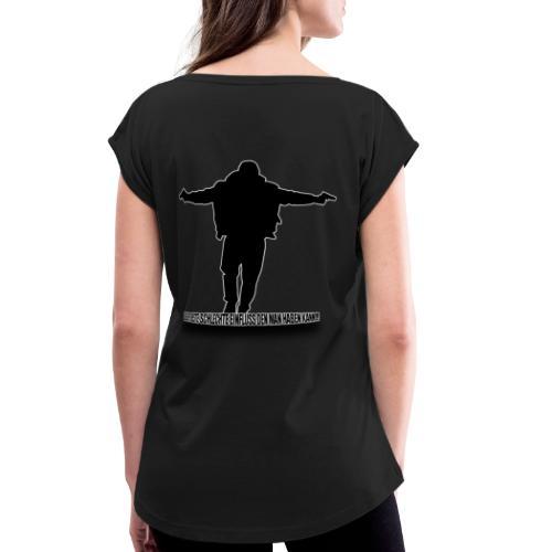 Der Beste Schlechte Einfluss - Frauen T-Shirt mit gerollten Ärmeln