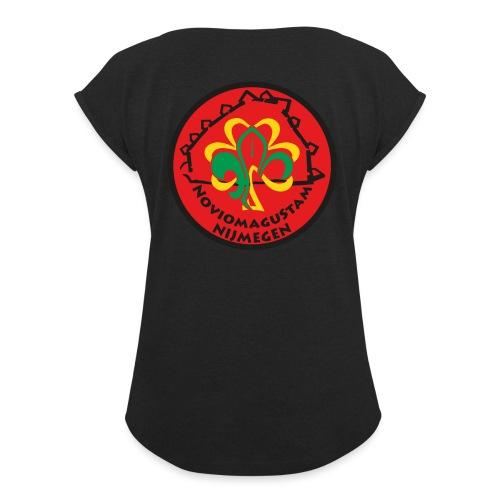 NoviomaguStam - Vrouwen T-shirt met opgerolde mouwen