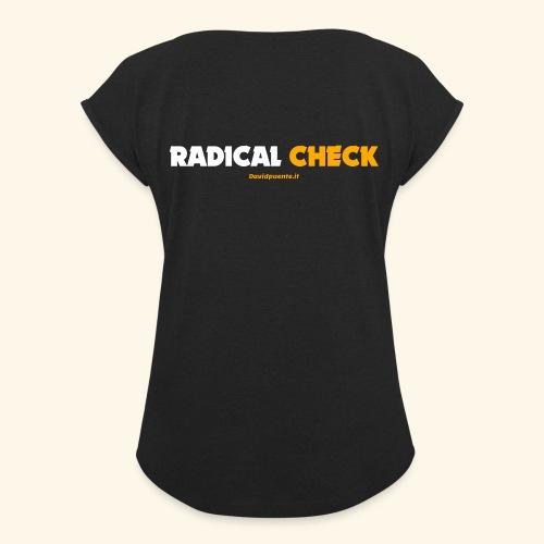 Radical Check - Maglietta da donna con risvolti