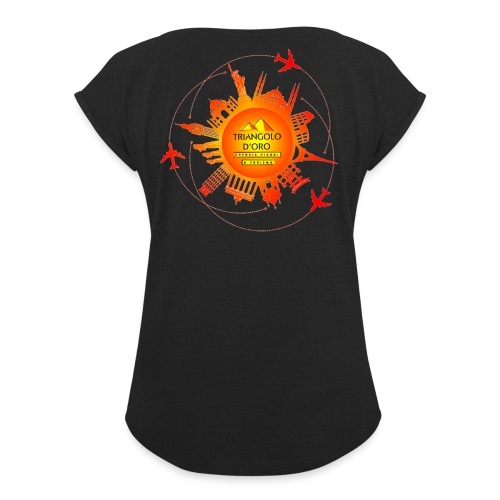 Mondo - Maglietta da donna con risvolti