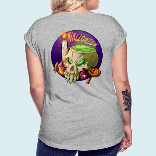 halloween - Maglietta da donna con risvolti