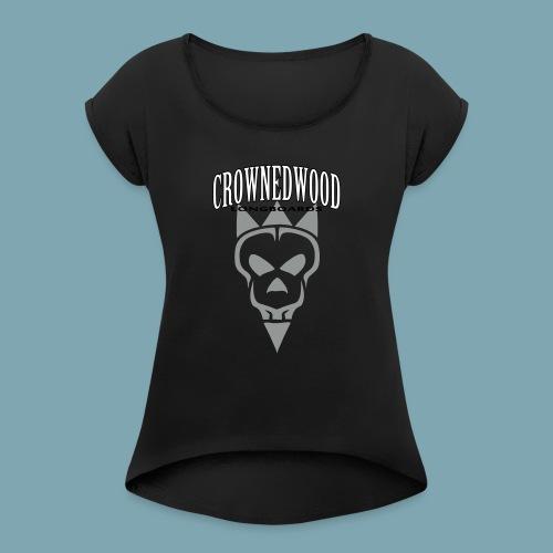 SKULL&CROWNED_Perfect_ver - Frauen T-Shirt mit gerollten Ärmeln