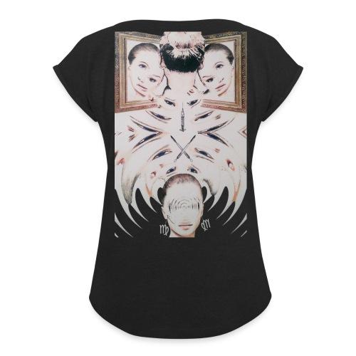 Jungfrau - Frauen T-Shirt mit gerollten Ärmeln