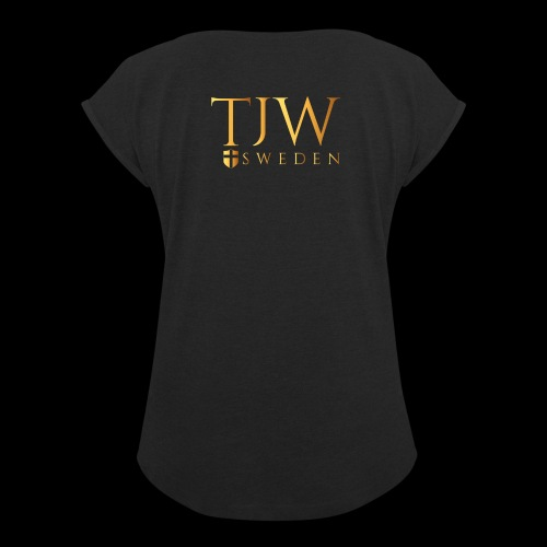 Gold logo - Women's T-Shirt with rolled up sleeves
