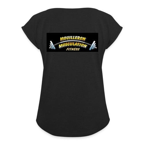 MMN - T-shirt à manches retroussées Femme