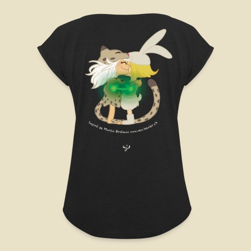 hug Janou! - T-shirt à manches retroussées Femme
