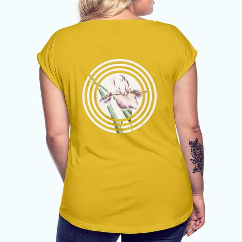 Lilies watercolor - Women's T-Shirt with rolled up sleeves