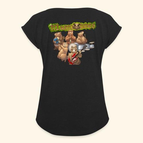 Tshirt groupe complet (dos) - T-shirt à manches retroussées Femme