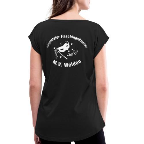 LFK_Logo - Frauen T-Shirt mit gerollten Ärmeln