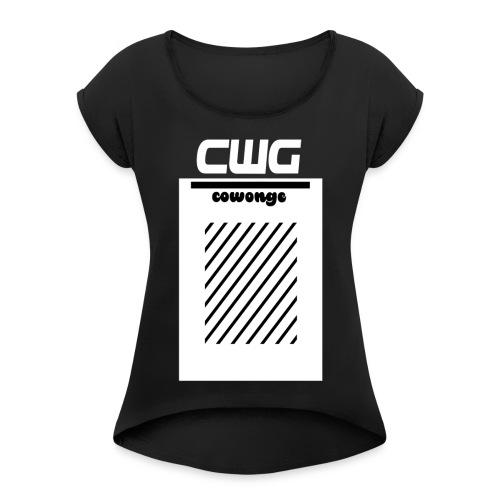 Cowonge - Frauen - Frauen T-Shirt mit gerollten Ärmeln