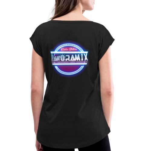 LOGO bleu et rose 1 FLUO PANORAMIX - T-shirt à manches retroussées Femme