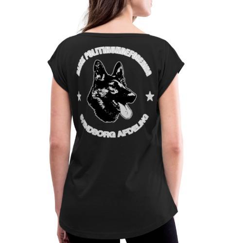 Svendborg PH hvid skrift med extra glød - Dame T-shirt med rulleærmer