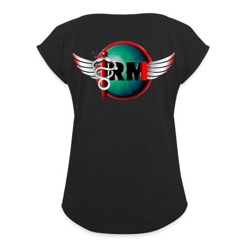 IRM V003xs - T-shirt à manches retroussées Femme