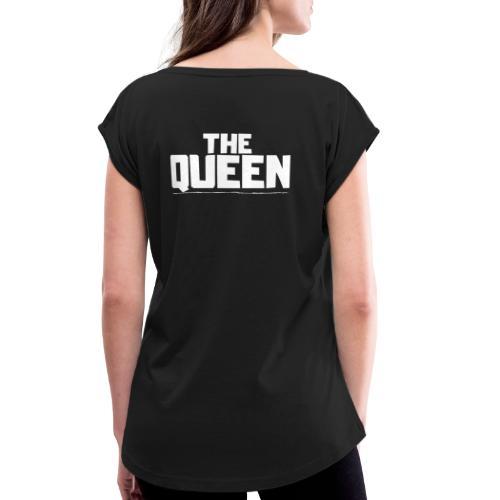 THE QUEEN - Camiseta con manga enrollada mujer