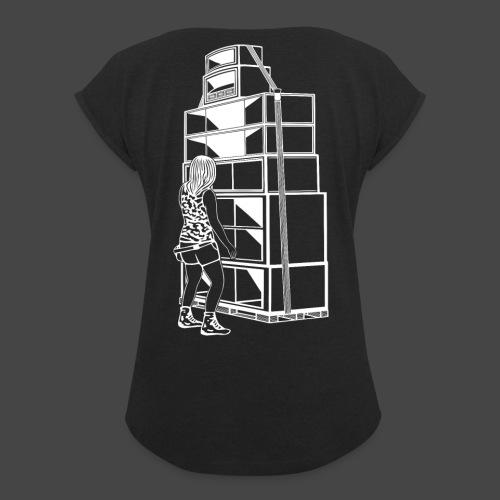 soundsystem tekno 23 fille - T-shirt à manches retroussées Femme