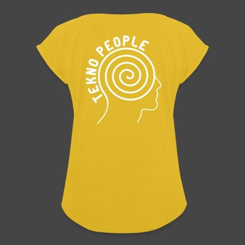 personnes tekno - T-shirt à manches retroussées Femme
