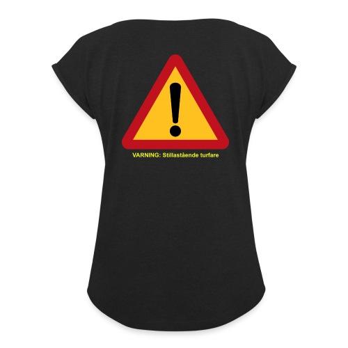 VarningTurfare - T-shirt med upprullade ärmar dam