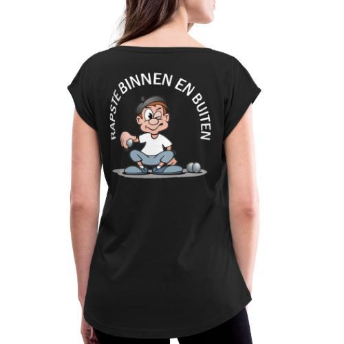 Rapste1 - T-shirt à manches retroussées Femme