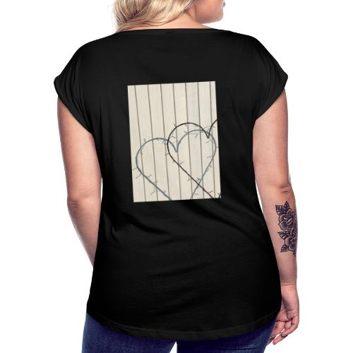 Love Shadow - Dame T-shirt med rulleærmer