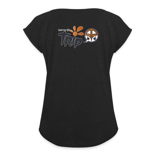 Logo pour fond sombre - T-shirt à manches retroussées Femme