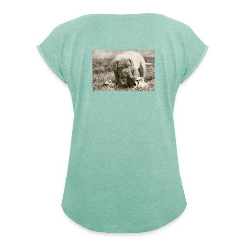 My Piece! - Dame T-shirt med rulleærmer