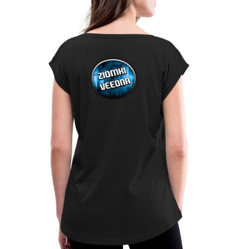 Logo - Koszulka damska z lekko podwiniętymi rękawami