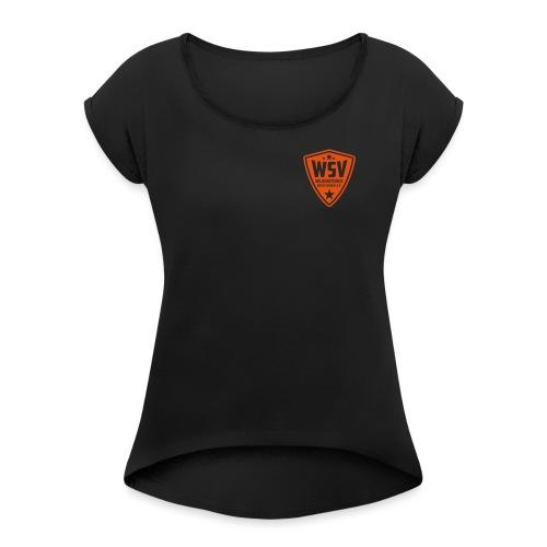WSV_Logo_mono_10cm_hoch - Frauen T-Shirt mit gerollten Ärmeln