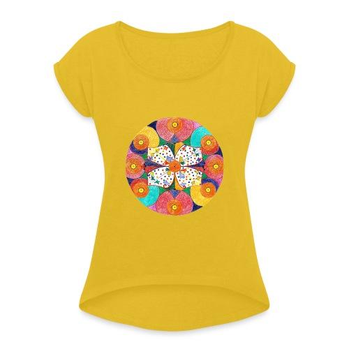 Abundance Mandala gif - Maglietta da donna con risvolti