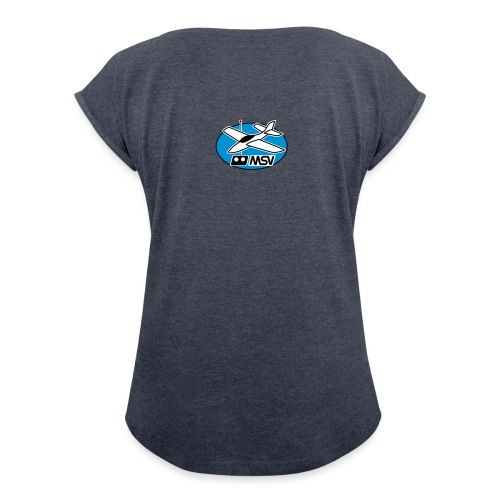 MSV-logo_vec - Frauen T-Shirt mit gerollten Ärmeln