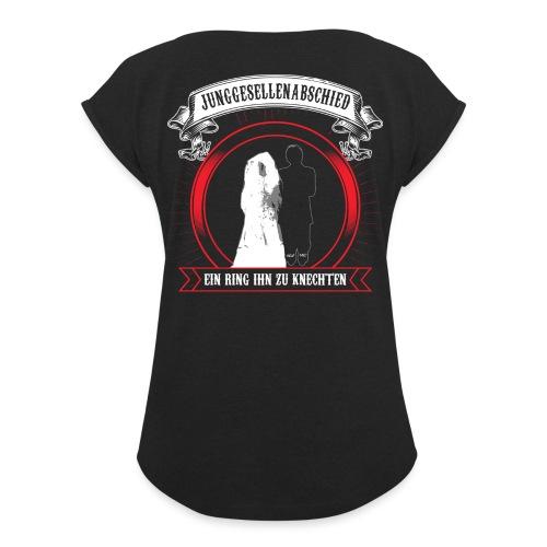 Help ME - Frauen T-Shirt mit gerollten Ärmeln