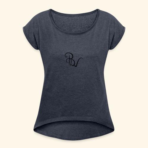 Special Design PDw - Vrouwen T-shirt met opgerolde mouwen